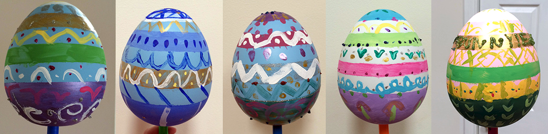 Patterned-easter-eggs-kids-project