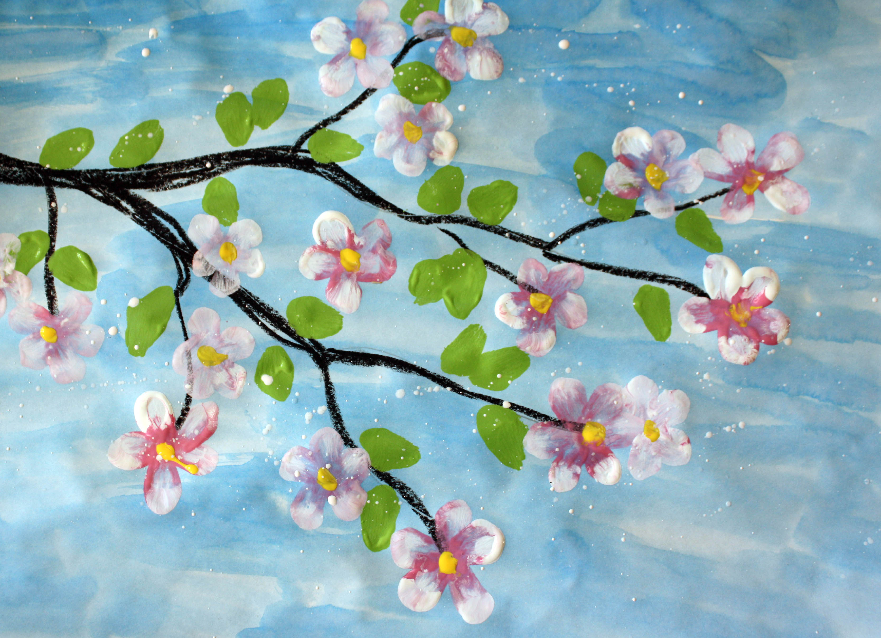 Creativemoontempera painted flowers creativemoon for How to make a good painting